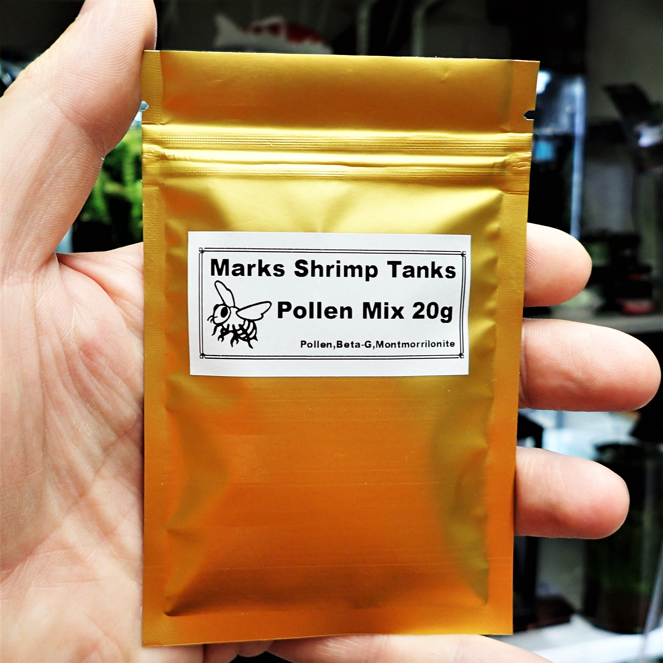 Pollen shrimp food